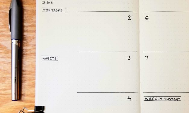 Minimalist Bullet Journal with Top Tasks, Habits, and Weekly Insight